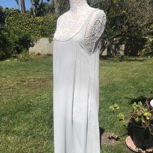 Anthropologie see-through maxi dress